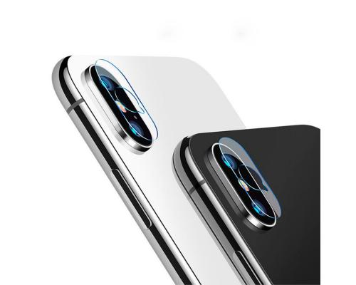 Защитное стекло для камеры iPhone X/XS/XS Max прозрачное