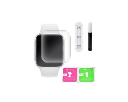 Защитное стекло 3D для Apple Watch 4 44 мм с гелем и лампой
