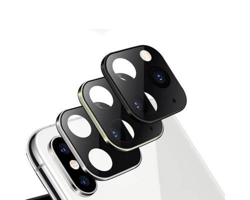 Защитное стекло для камеры iPhone X в дизайне iPhone 11 Pro